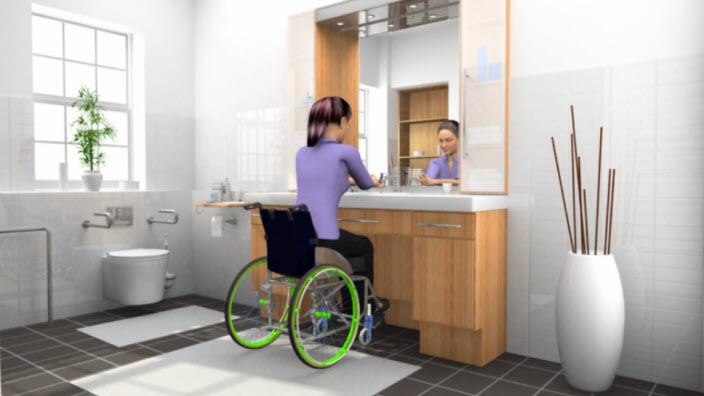 Vrouwen in een rolstoel