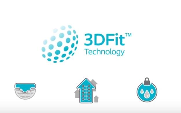 Bekijk hoe Biatain Silicone 3DFit®-technologie de holte vult en het  exsudaatophoping vermindert.